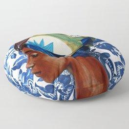 Turban lady Floor Pillow