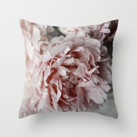 peonies Throw Pillows featuring Peonies  by Pure Nature Photos