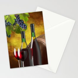 Evening Wine Tasting Art Stationery Cards