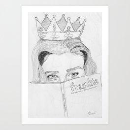 Magazine Queen  Art Print