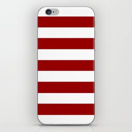USC Cardinal - solid color - white stripes pattern iPhone Skin