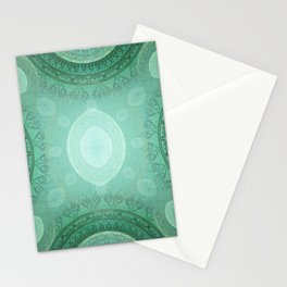 """""""Aquamarine Sea Mandala Deluxe"""" Stationery Cards"""