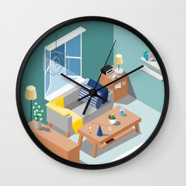 BTS - Isometric Serendipity Wall Clock