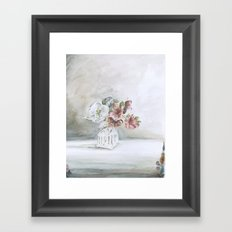 Intimacy (Pear blossom, Azalea)   Framed Art Print