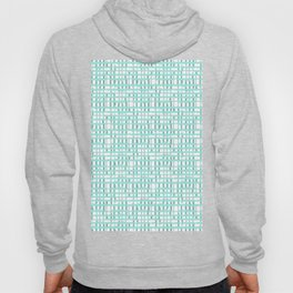 Modern Mint Abstract Turquoise Lines Hoody