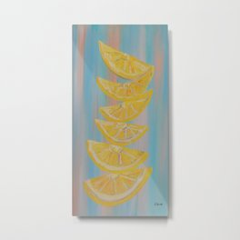 A Stack of Lemon Slices Metal Print
