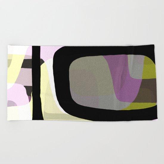 Mid Century Abstract 1 Beach Towel