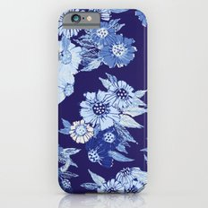 Floral pattern in Indigo iPhone 6s Slim Case