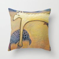 coyote Throw Pillows featuring Coyote by Bryan Dechter