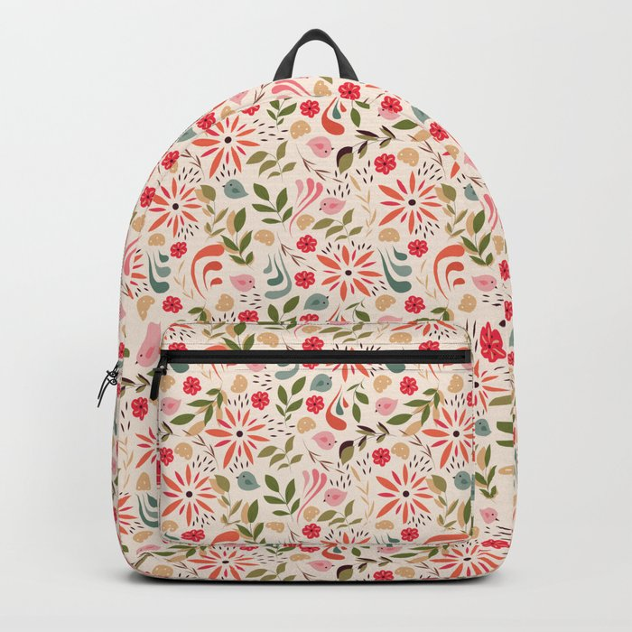 Birds and flowers 001 Backpack