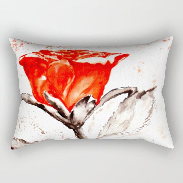 Just another rose Rectangular Pillow