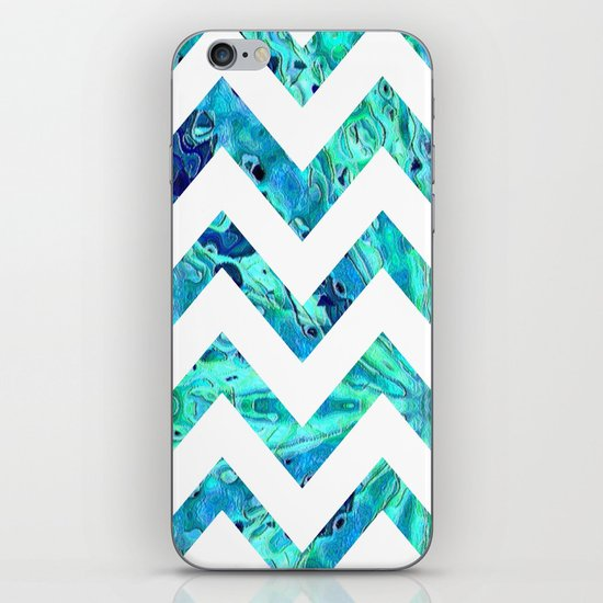 Arctic Blast Chevron iPhone & iPod Skin