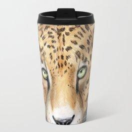 Snow, Leopard Travel Mug