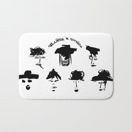 hats and hairstyles Bath Mat