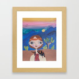 ~ Gila Monster ~ 10 Year Old Amelia's Arizona Critter Girl Framed Art Print