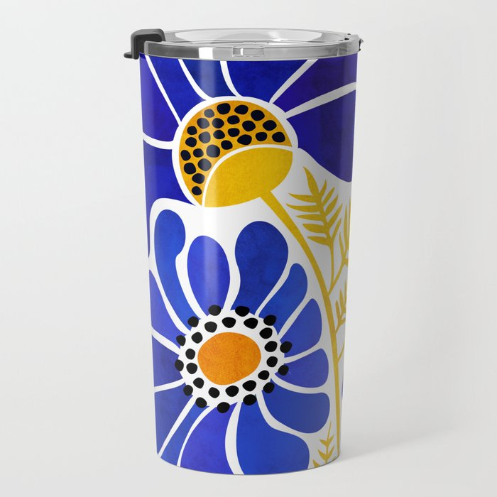 The Happiest Flowers Travel Mug