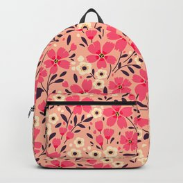 21 Cute floral pattern. Pink Flowers. Backpack