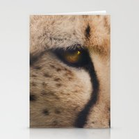 cheetah Stationery Cards featuring Cheetah  by Pauline Fowler ( Polly470 )