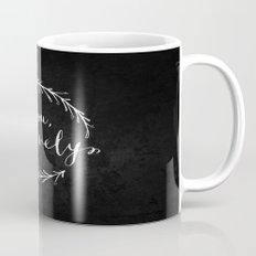 Be You Bravely // White on Black Mug