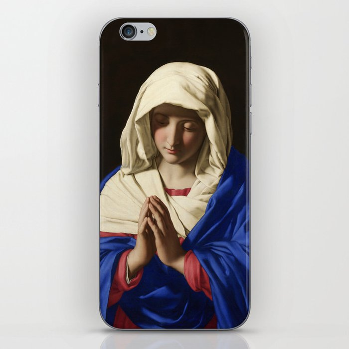 The Virgin in Prayer by Giovanni Sassoferrato (c. 1645) iPhone Skin