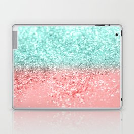 Summer Vibes Glitter #1 #coral #mint #shiny #decor #art #society6 Laptop & iPad Skin