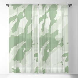 Colorful Marble Stylish Light Greens Sheer Curtain