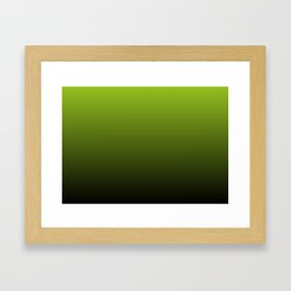 Ombre   Lime Green and Charcoal Grey Framed Art Print