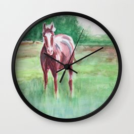 Marsh Meadow Wall Clock
