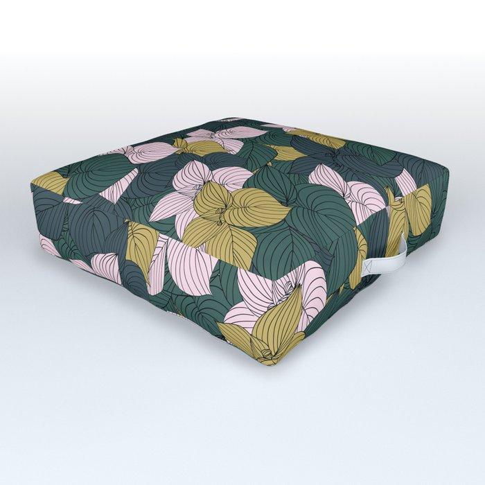 Jungle Floral Outdoor Floor Cushion