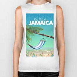 'Pure Paradise' Jamaica travel poster Biker Tank