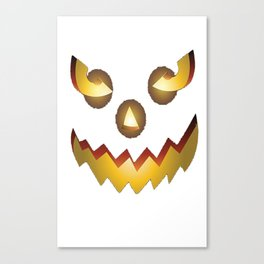 The Official Scary Face Halloween Costume Tee Shirt Canvas Print
