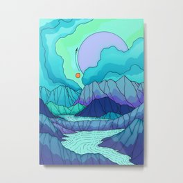 The river on Neptune Metal Print