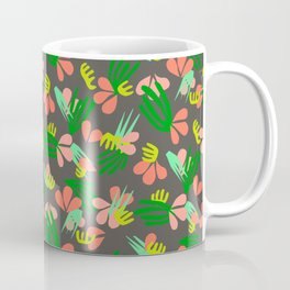 Henri's Garden in gray // tropical flora pattern Coffee Mug