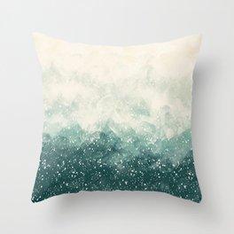 Snowy Summer Throw Pillow