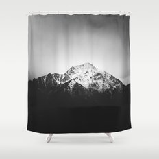 Black and white snowy mountain Shower Curtain