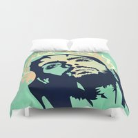 jesus Duvet Covers featuring JESUS MINIMAL by mark ashkenazi