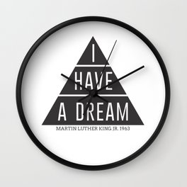 I Have A Dream Martin Luther King Speech Wall Clock