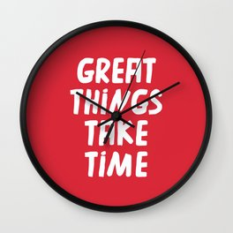 Great Things Wall Clock