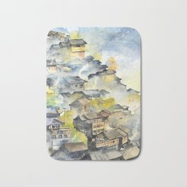 Morning in Chinese Village Bath Mat