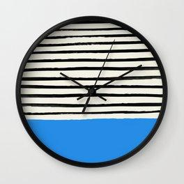 Ocean x Stripes Wall Clock