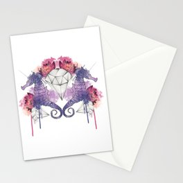 Seahorse Meltdown - Purple/Pink Stationery Cards