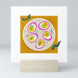 Perfect Pickled Deviled Eggs Mini Art Print