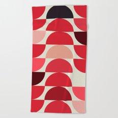 Red Bowls Beach Towel