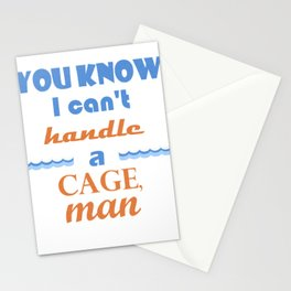 Point Break - Can't Handle A Cage Stationery Cards