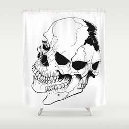 Skull (Fragmented and Conjoined) Shower Curtain