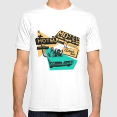 Road Trip White Mens Fitted Tee MEDIUM