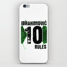 Ibrahimovic 10 Rules iPhone Skin