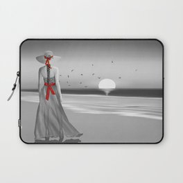 The lady at the sea Laptop Sleeve