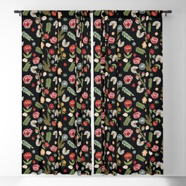 Heritage folklore, inspired by Czech and Moravian folklore costumes Blackout Curtain