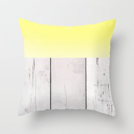 Abstract Pattern - Lemon - Wood Texture Throw Pillow